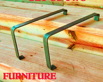Furniture Metal Armrest set of 2 for Benches and Chairs Indoors or Out.
