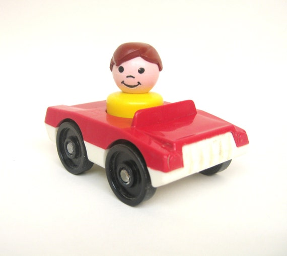 Rare Vintage Fisher Price Red Car By Toysofthepast On Etsy