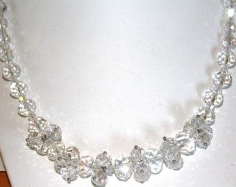 Auroraborealis crystal necklace approximately 18 inches long