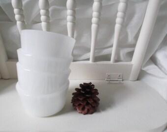 Glasbake Bowls Vintage Milk Glass Custard Cups Ramekins