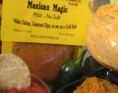 MEXICAN MAGIC Diet Options mild Salsa Seasoning diabetic vegan no preservatives no salt no sugar gluten free Delicious easy salsas dips rubs