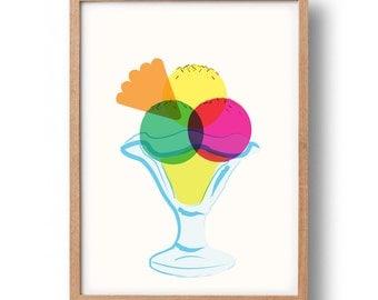 Ice-Cream Sundae Graphic Print