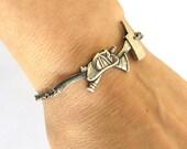 Firefighter Bracelet, Fireman Bracelet, Sterling Silver Ox Finish- Customizable