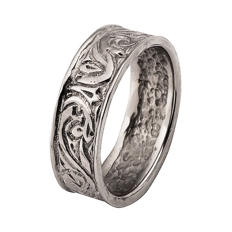 Antique Scroll Bands: 18k Gold Antique Scroll Wedding Band