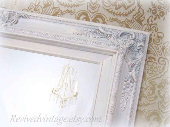 Shabby chic mirrors for sale baroque framed by revivedvintage for Decorative wall mirrors for sale