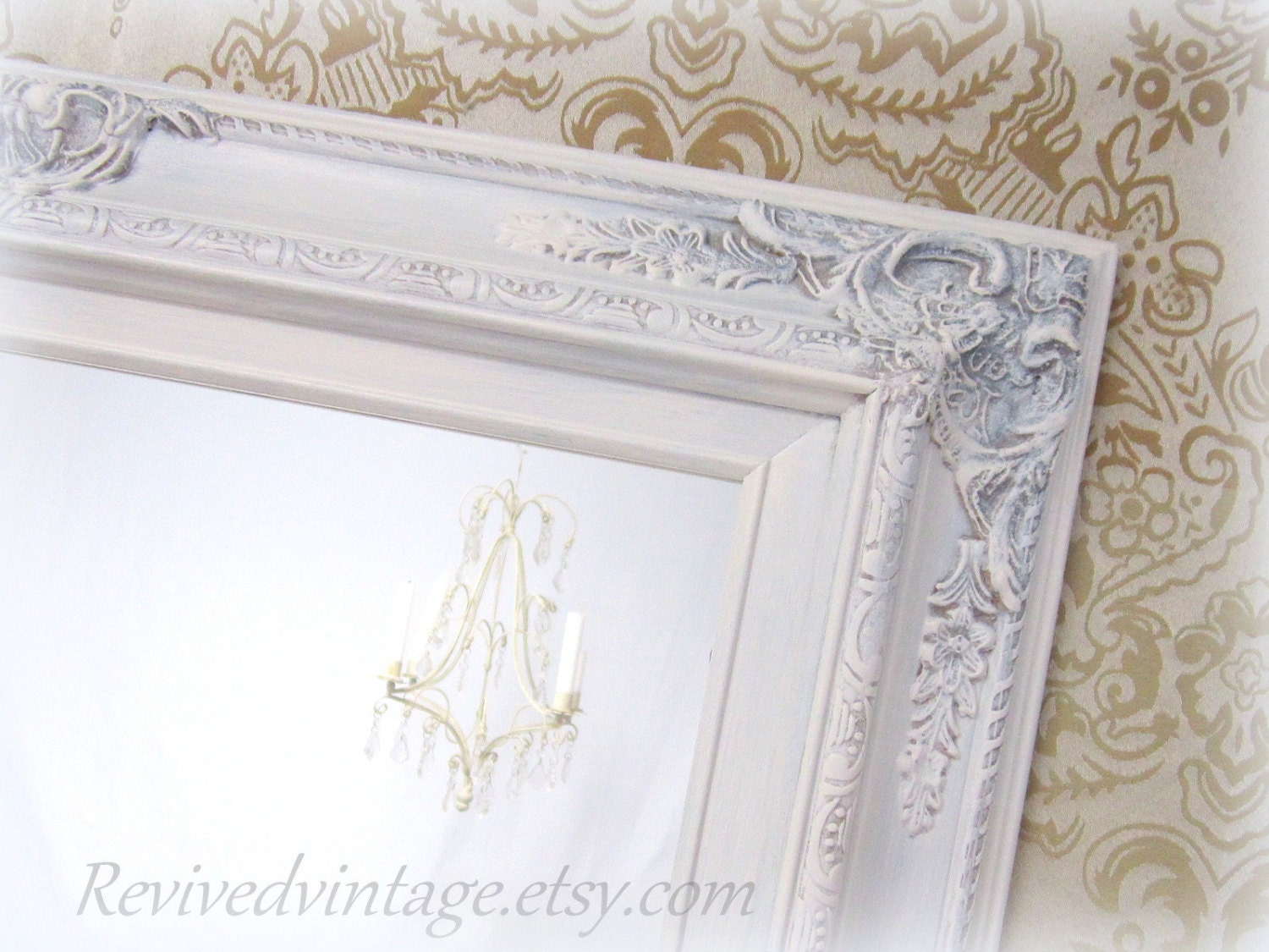 Shabby Chic Mirrors For Sale Baroque Framed By Revivedvintage