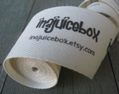 Twill Fabric Labels, one and one-half inch ribbon - uncut, spool - natural or white