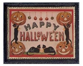 Happy Halloween Miniature Dollhouse Art Picture 6194