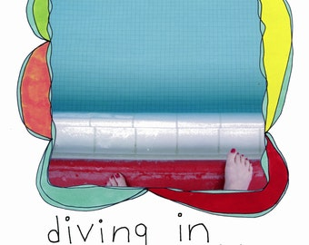 "The book ""diving in"" by Rachel Awes. Endorsed by SARK and Brian Andreas/Storypeople."