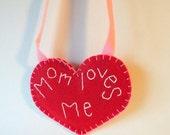 Custom Valentine Heart Necklace