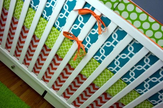 Bumpers/ 2 Sheets/ Skirt (Modern Baby Bedding Crib Set)