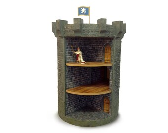 Revolving castle dolls house