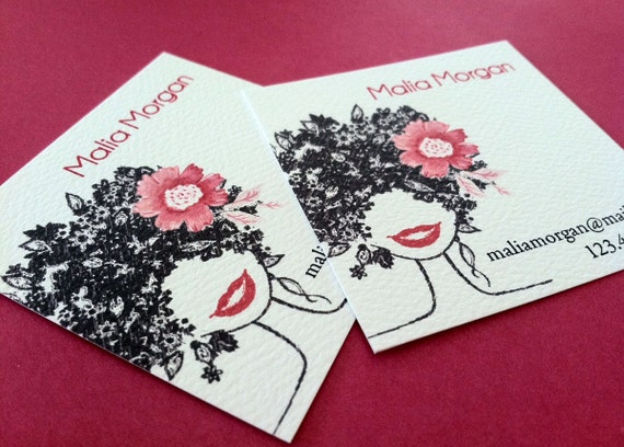 Business Cards, Stylist Cards, Calling Cards, Set of 48