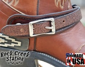 """Spur Straps, """"Special Dark Oil"""" Gus Turn-Back , Cowboy Handmade leather"""