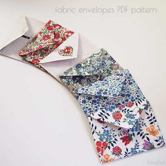 PDF Pattern Fabric Envelopes Instant Download DIY Project