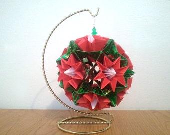 3d origami ornament Christmas kusudama