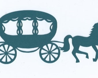 Horse and carriage silhouette 2