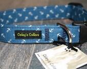 """Dog Collar """"Anchors Away"""""""