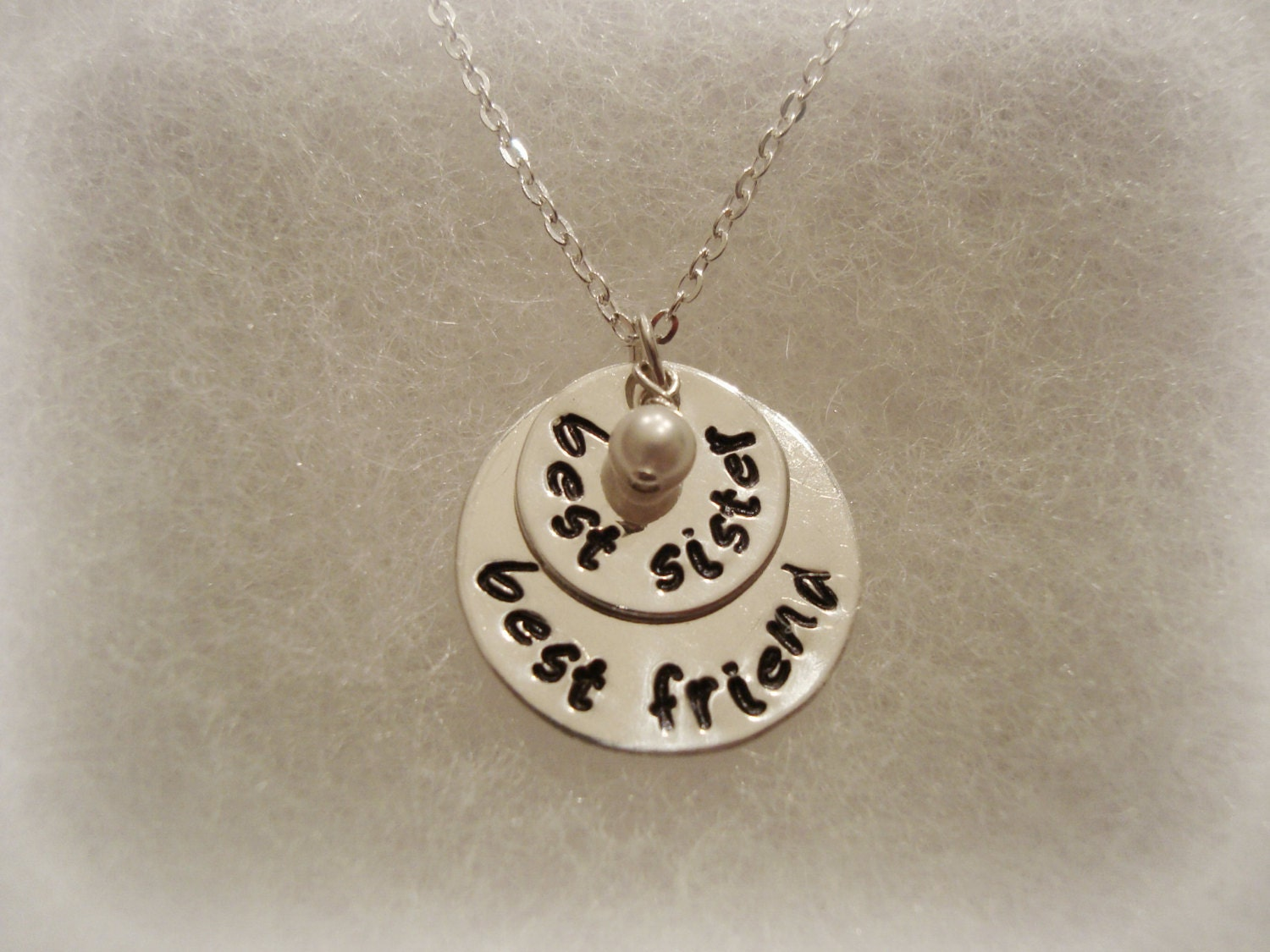 Best Sister Best Friend Sterling Silver Necklace