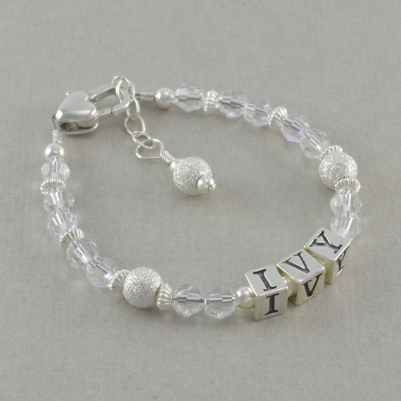Girls Name Bracelet First Birthday Gifts By