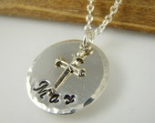 Personalized Boy Baptism Cross Necklace, Baptism Name Necklace for Boys