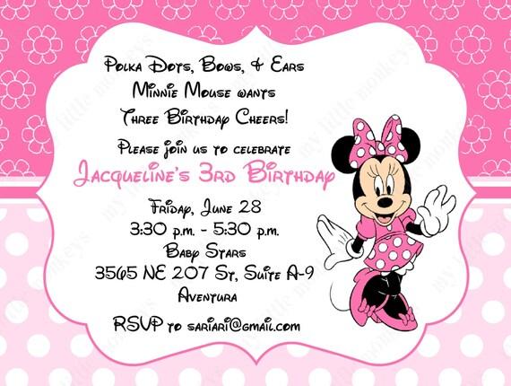 10 Caliente rosa & bebé Rosa Minnie Mouse por BethCloud723 en Etsy