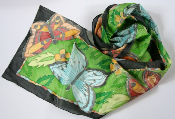 Women Scarf. Silk Scarf. Butterfly Scarf.  Wings. Practical Scarf. Winter Scarf. Perfect Gift