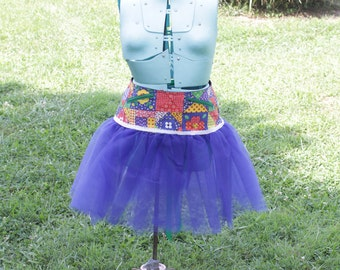 Ladies Primary Patch  Corset Tutu with Pockets  -  Size SM - FREE US Shipping