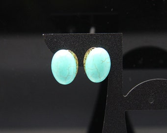 1pair(je-0380hlg) - handmade earrings with sterling silver,brass and natural howlite plated gold