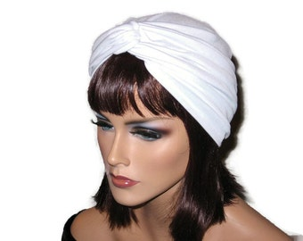 White Turban, White Twist Turban, White Turban Hat, White Fashion Turban, Women's White Turban, White Handmade Turban, Turban Blanc