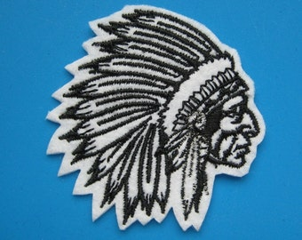 Iron-on embroidered Patch Indian 2.25 inch