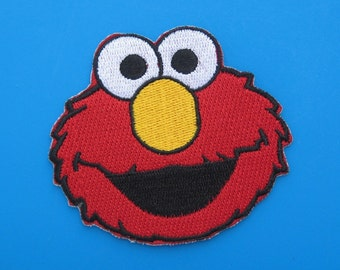 Iron-on Embroidered Patch Sesame Street Elmo 3 inch