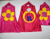 RING BEARER CAPES,  Single-Sided with Emblem and Initial