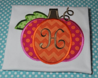Monogrammed Pumpkin Shirt or Bodysuit -FREE Monogramming