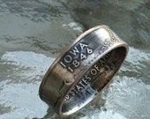 Iowa State Quarter Coin Ring  Size 5 to 12 By Custom Coin Rings