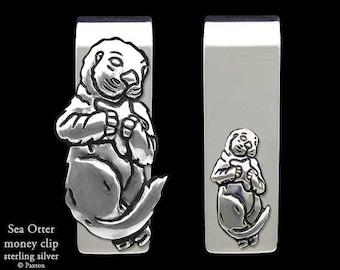 Sea Otter Money Clip Sterling Silver