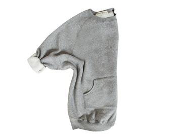 Grey Oversized Sweatshirt Gray