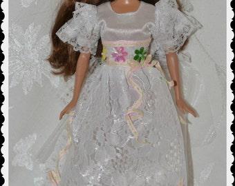 Barbie Vintage White Dress