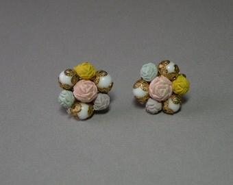Pastel Roses Earrings