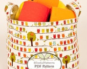 Easy to Sew Fabric Bin PDF Sewing Pattern - two sizes - INSTANT DOWNLOAD - by BlissfulPatterns