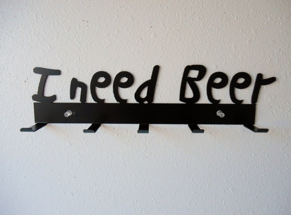 Beer Rack- Metal Wall Hanging- Home Decor - Organizer