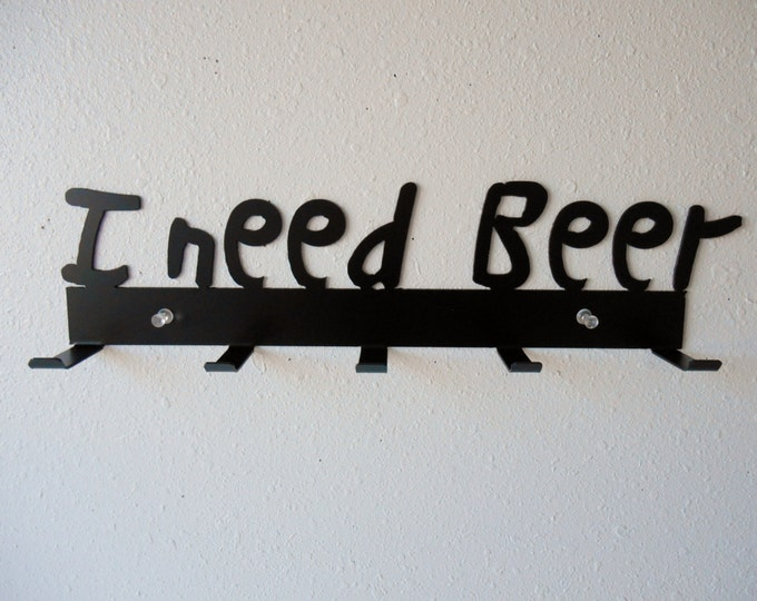 Beer Rack- Metal Wall Hanging- Home Decor - Organizer