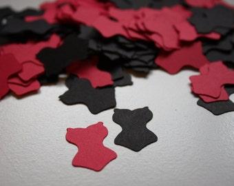 200 pieces Bachelorette Lingerie Die Cut Confetti Table Decor  red and black