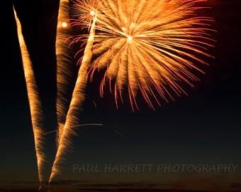Photo Art - Night Photography - Fireworks -  4th of July - Lopez Island - San Juan Islands - 11 X 14 - Prints