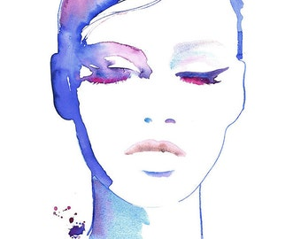 Archival Fashion Prints, Watercolor Illustration Print, Titled - eyeswideshut