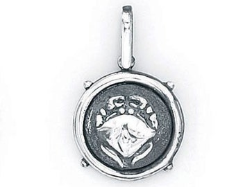Cancer Zodiac Pendant in Sterling Silver 504-16