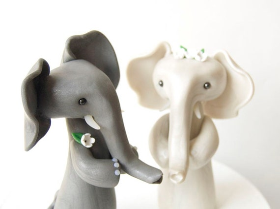 Elephant Wedding Cake Topper by Bonjour Poupette