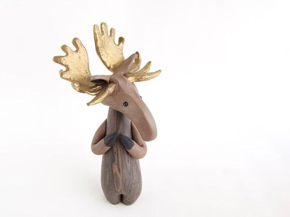 Moose Sculpture by Bonjour Poupette