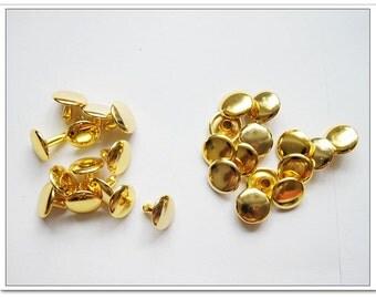 60 sets 12mm  gold  Rivets purse making supplies