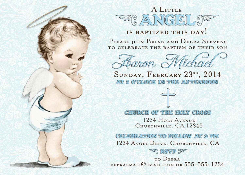 Baptism Invitation For Boy Christening Invitation For Boy